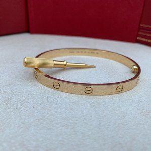 Cartier Love Bracelet Yellow Gold Size 18